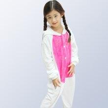 Boys Girls Pijamas autumn winter animal cartoon unicorn onesie  costume pyjama christmas kids pajama sets for 4 6 8 10 12 years