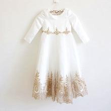 2016 Black Flower Girl Dresses High Low Scoop Long Sleeves Floor Length Satin Tulle Ball Gown Kids Wedding Party Dresses