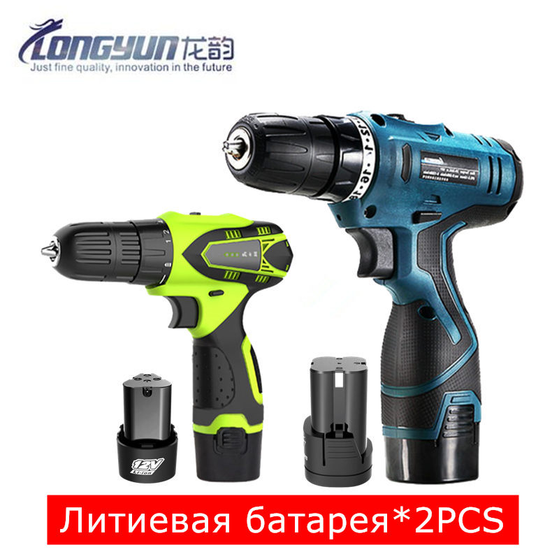 12V Additional Lithium Battery Cordless Drill 16.8V Torque Electric Drill Driver Screwdriver Gun Charger Drill Wall Power Tools