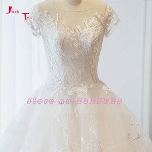 Image 3 - Jark Tozr nowa specjalna Trouwjurken z krótkim rękawem aplikacje koronkowe szorty ślubne dla nowożeńców sukienka De Mariage sklep internetowy chiny
