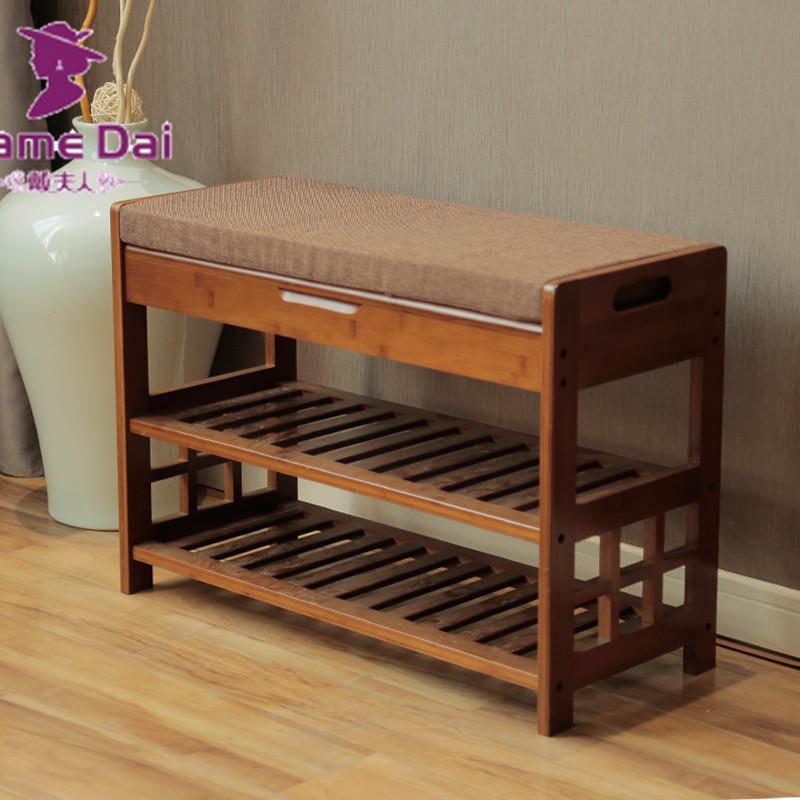 Bamboo Shoe Rack Bench Storage Organizer Bamboo Furniture Door Hallway Large Shoe Rack Home Entryway Shelf Stand Storage Stool