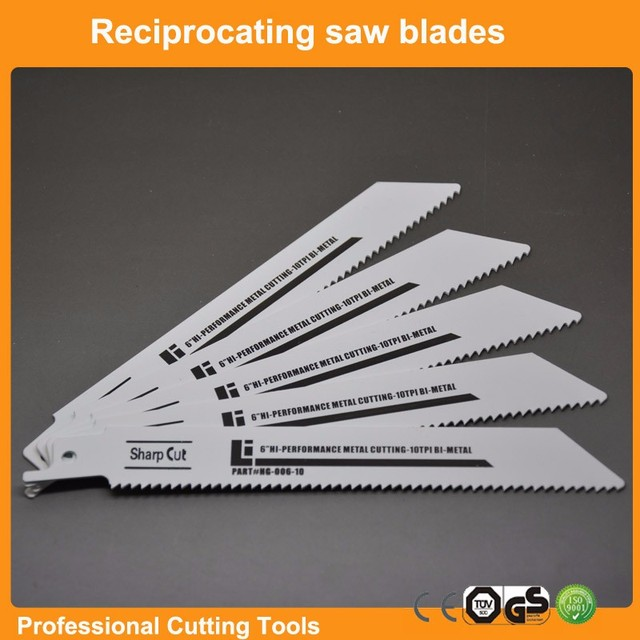 Bi-metal Reciprocating Saw Blades 6TPI,10TPI,18TPI for option Sabre Saw Blades For Reciprocation Free Shipping: 6″ inch (150mm)