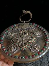 Collecting old Tibetan natural crystals Decorative plate,handmade Inlaid with semi-precious stone beads, can hanging wall