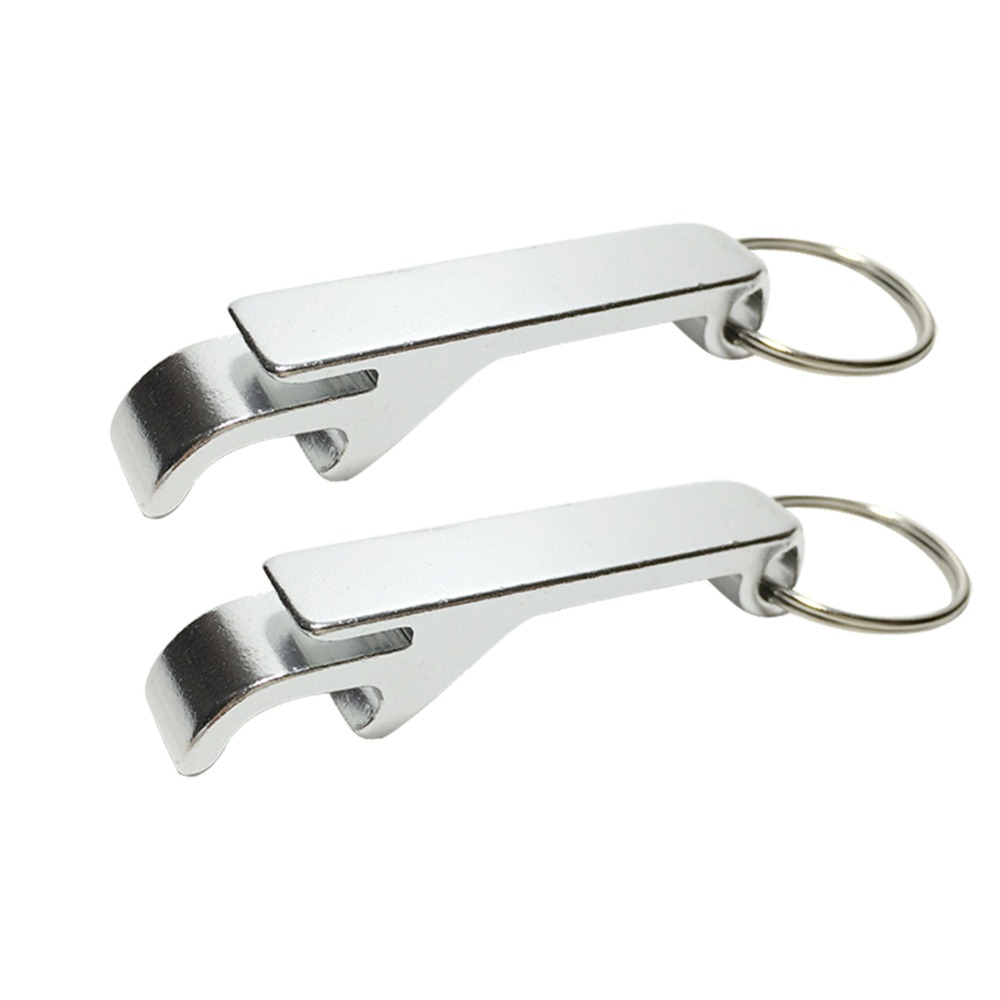 2pcs Portable Aluminum Alloy Key Ring Keychain Bottle Openers Creative Beer Bar Opener Bottle Tools Wedding Party Favor Gifts
