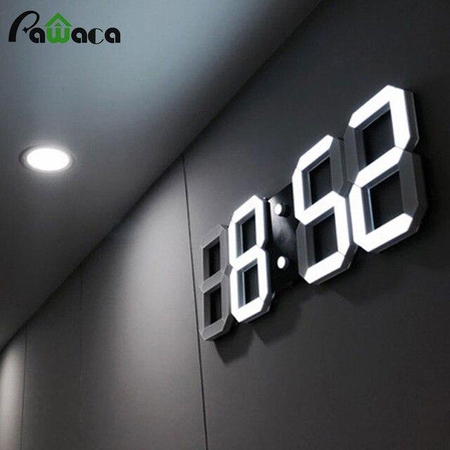 796f2882aed Moderno Relógio de Parede Digital LEVOU Mesa da tabela Noite Relógio de 24  ou 12 Horas