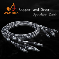 ATAUDIO Hifi Copper and Silver Speaker Cable Hi end Speaker Wire With Banana Jack