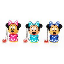 USB Flash Drive 128GB Mouse Mickey and Minnie pen drive 2.0 Animal cartoon pendrive 4GB 8GB 16GB disk 32GB 64GB