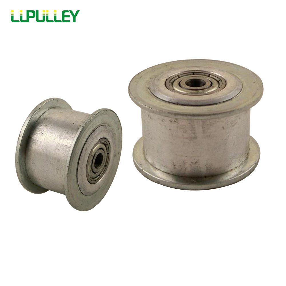 LUPULLEY 3M Type 25T Idler Pulley Bore 3/4/5/6/7/8/9mm Width 11/16mm With Bearing Guide Regulating Synchronous HTD3M Pulley 2PCS lupulley 25t 5m idler pulley tensioner bore 5 6 7 8 10 12 15mm with bearing guide regulating synchronous htd5m pulley 25t