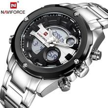 NAVIFORCE Los Hombres Del Tiempo Dual Display Reloj de Pulsera Día y Fecha Del Ejército Del Deporte Del Hombre Relojes de Moda Casual de Negocios Reloj Relogios