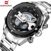 NAVIFORCE Hot Brand Luxury Wrist Watches Famous Sport Fashion Casual Watch Men Led Display Date Military