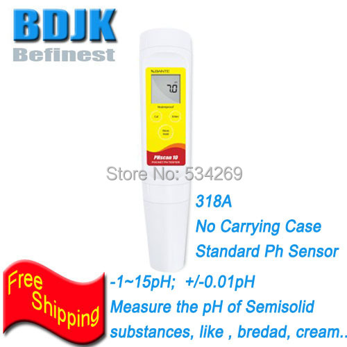 Waterproof Ph Tester No Carrying Case -1~15pH Portable PH Meters Measuring Ph of Semisolid Substance 1 15ph pocket waterproof digital ph tester measuring semisolid substance with temperature measurement carrying case