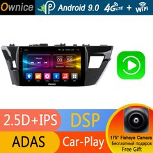 "Octa Core 10.1 ""IPS 4G Ram + 32G Android 9.0 Mobil Dvd Player GPS Navi Radio untuk toyota Corolla E160 2014 2015 2016 DSP Carplay Adas(China)"