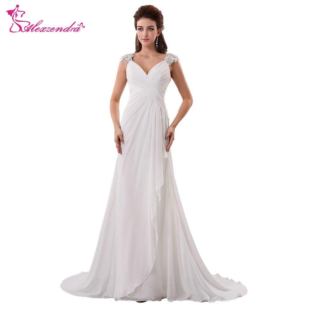 Real Photo 2017 Informal Chiffon Maternity Wedding Dresses Gowns ...