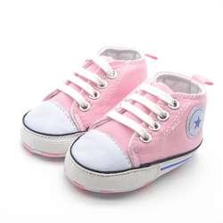 Летние холст детская обувь Детская хлопчатобумажная ткань сначала ходунки мягкая подошва обувь для мальчиков и девочек обувь 6 видов