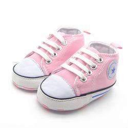 Verão lona sapatos de bebê infantil tecido algodão primeiros caminhantes sapatos sola macia menina meninos calçados 6 cores