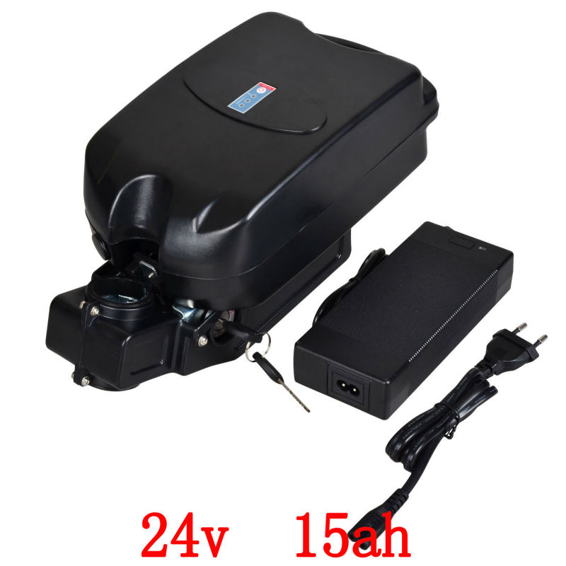 24v Electric bike battery 24V 15AH for F rog case Li-ion Battery for 250W 350W motor with Case,BMS and US/EU Charger