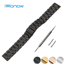 Stainless Steel Quick Release Watch Band 18mm 20mm 22mm 23mm for Fossil Folding Buckle Strap Wrist Belt Bracelet + Spring Bar