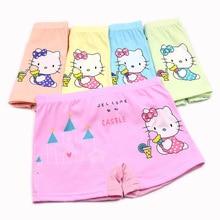 5 pcs/lot New Cotton Children Panties 4 Pcs/lot Girls Briefs Female Child Underwear baby girl panty Clothing