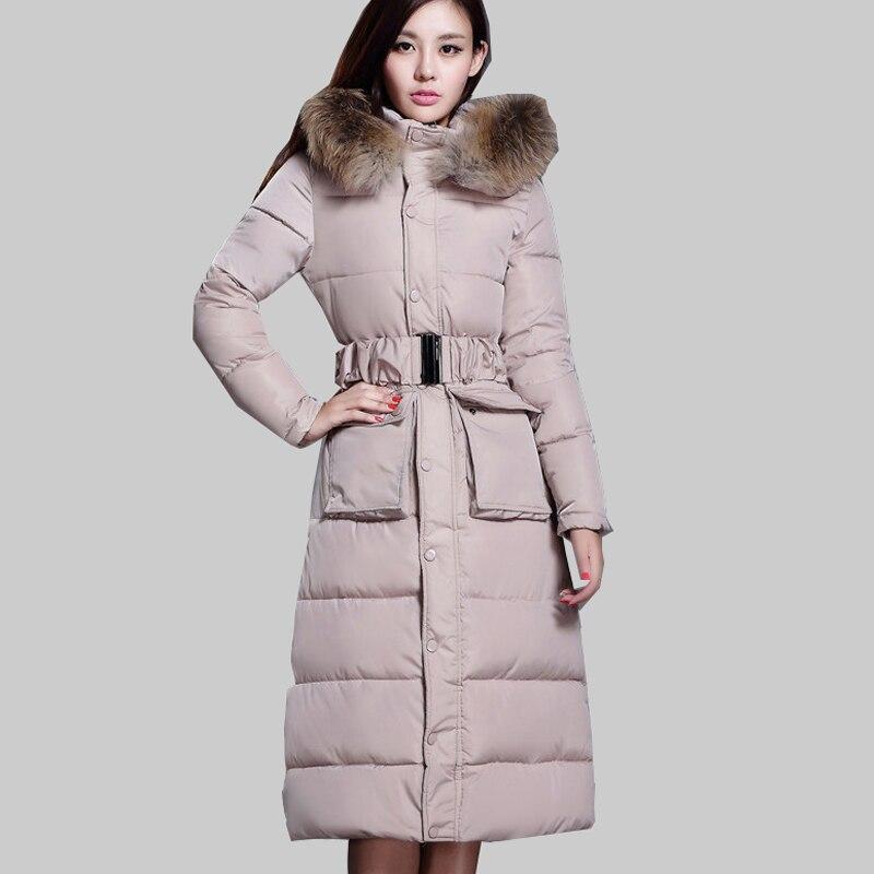 Over Knee Long Coats Korean Cotton Padded Winter Jacket Women Plus Size Coat Solid or Floral Slim Nagymaros Collar Parka  JA689 цены онлайн
