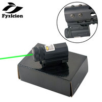Tactical hunting Power Green Dot Laser Sight for Pistol and Airsoft Rifle Glock 17 19 22 With 20mm Rail Mount