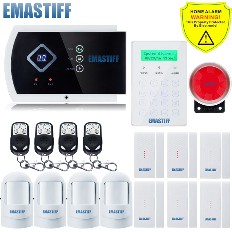 GSM Alarm System intelligent burglar home security system and Wireless Touch Password Keypad Alarm Quad-band Application control hp 932xl cn053ae