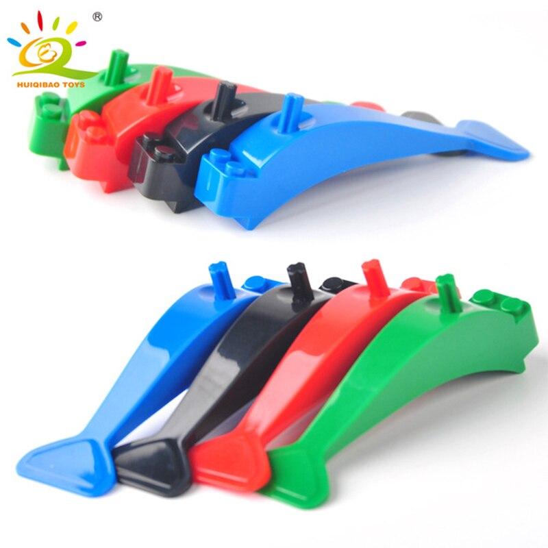 Huiqibao brinquedos 2 pçs desmontado dispositivo blocos acessórios blocos de construção montagem ferramenta desmontagem tijolos blocos crianças