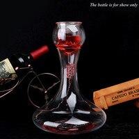 Gül Şekli El Yapımı Kristal Kırmızı Şarap Pourer Bar Cam Sürahi Brendi Durusu Için Set Şampanya Hızlı shaker