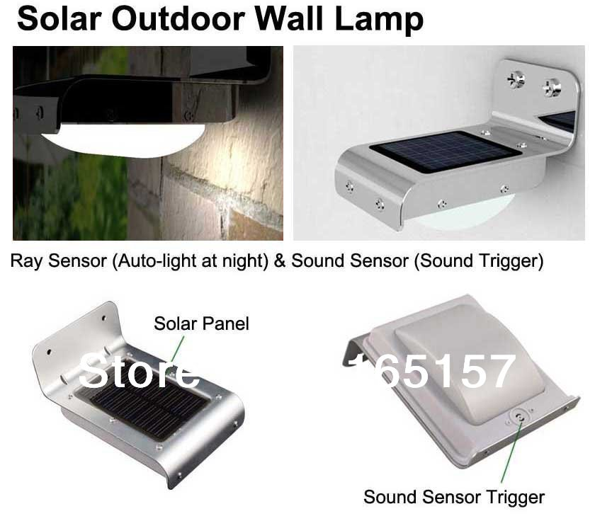 Solar Panel With Led Light Part - 31: 4 Piece Solar Sensor Light,solar Light PIR Motion Sensor,solar Panel Led All
