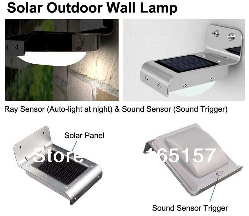 Toika 4 stk. Solensorlys, sollys PIR bevægelsesføler, solpanel, vandtæt IP65, havelys, trappelys