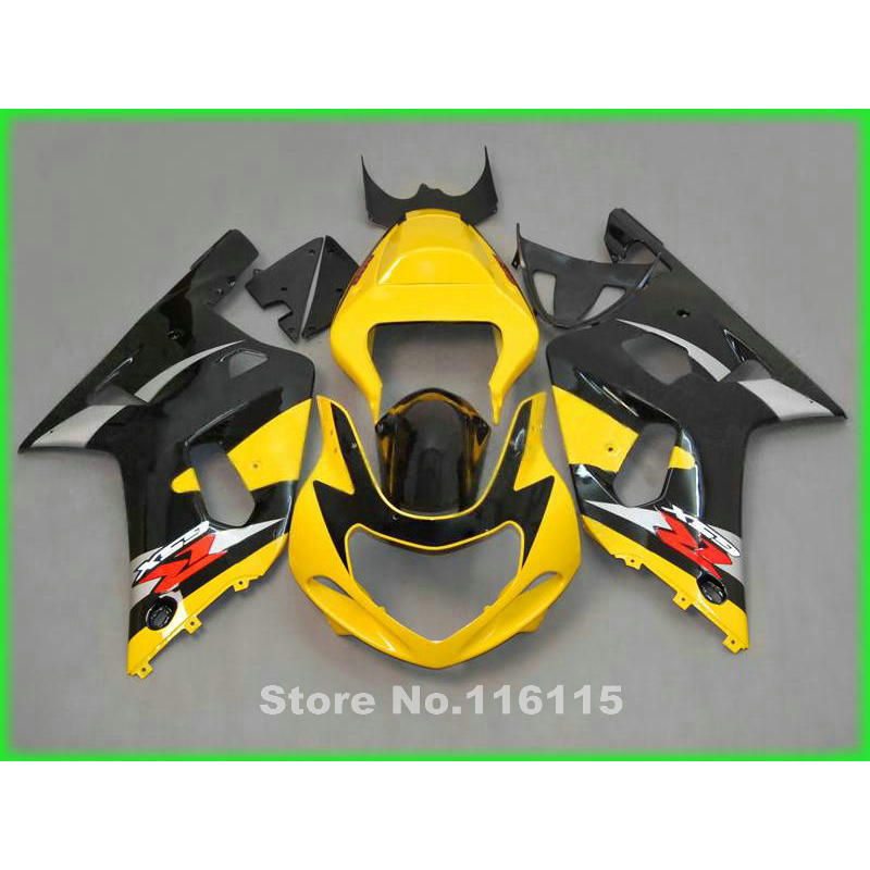все цены на fairing kit for SUZUKI GSXR600 GSXR750 K1 2001 2002 2003 GSXR 600 750 01 02 03 black yellow motobike fairings set X527 онлайн
