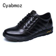 Sapatos masculinos Elevador Dos Homens Outono Lace Up 6 cm Altura Crescente Sapatos Homem Zapatos Hombre Sapatos Casuais Moda Tênis preto marrom