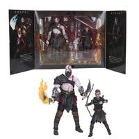 13cm /20cm God of War figure toy Kratos & Atreus Ultimate KO's NECA Axe Shield Son Loki set PVC Action Figure Model Toy