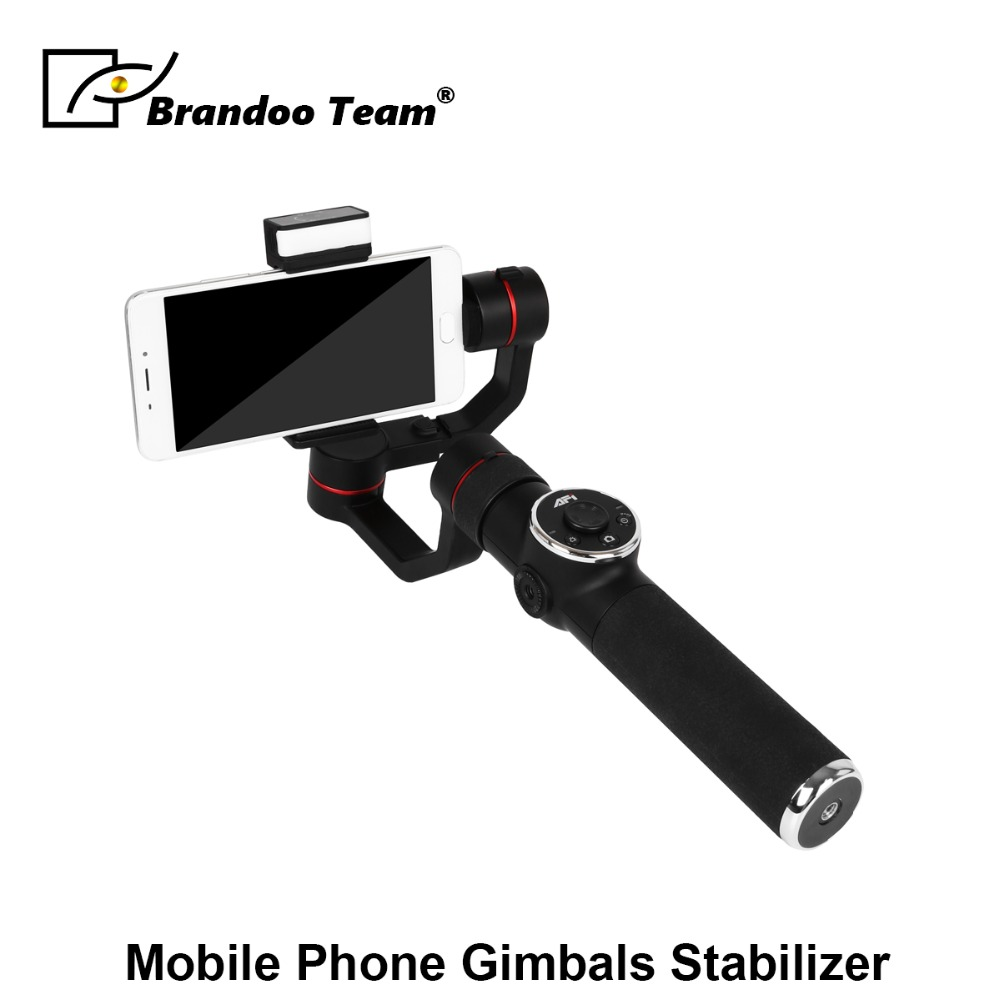 3-Axis Handheld Aluminum Brushless Gimbal Stabilizer for Smartphone Compatible with iPhone &Android Cellphone Within 6 inch3-Axis Handheld Aluminum Brushless Gimbal Stabilizer for Smartphone Compatible with iPhone &Android Cellphone Within 6 inch