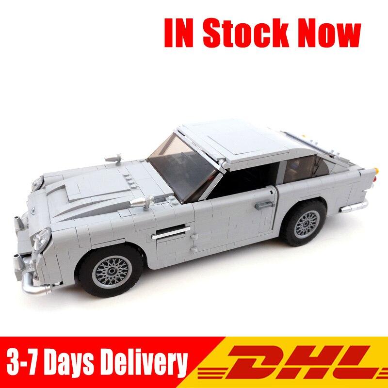 2018 Совместимость Legoingly 10262 метод Лепин 21046 1450 шт. Джеймс Бонд Aston Martin DB5 автомобиль строительные блоки кирпичи DIY игрушки