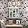 Free Shipping English Retro Nostalgic Illustrated Architecture Wallpaper Living Room Study Restaurant Background Wallpaper