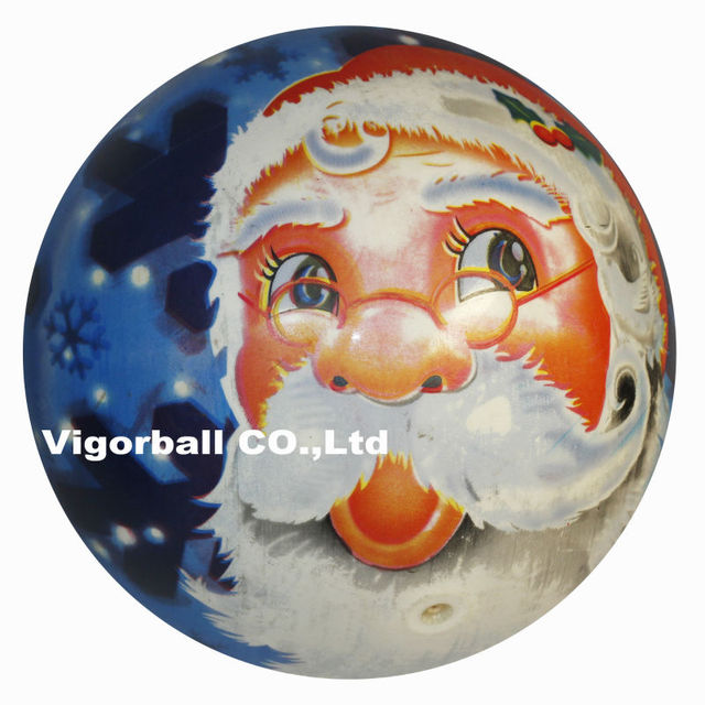 - Wholesale-9 inches inflatable SANTA CLAUSE cartoon full-printed ball -Designs mixed-from our factory