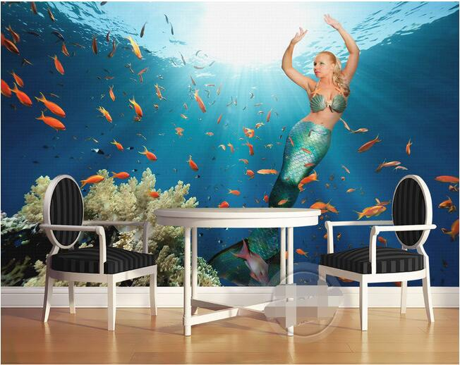 Online Get Cheap Mermaid Wall Mural AliexpresscomAlibaba Group