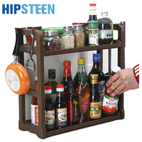 HIPSTEEN Creative Steady Seasoning Snacks Storage Rack Kitchen Double Layer Storage Shelf