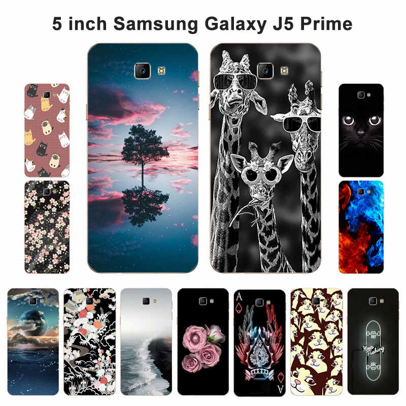 "For Samsung Galaxy J5 Prime on5 2016 Case Silicon Soft TPU Cover Blaze Painted 5.0"" for Galaxy J5 Prime Duos G570F"