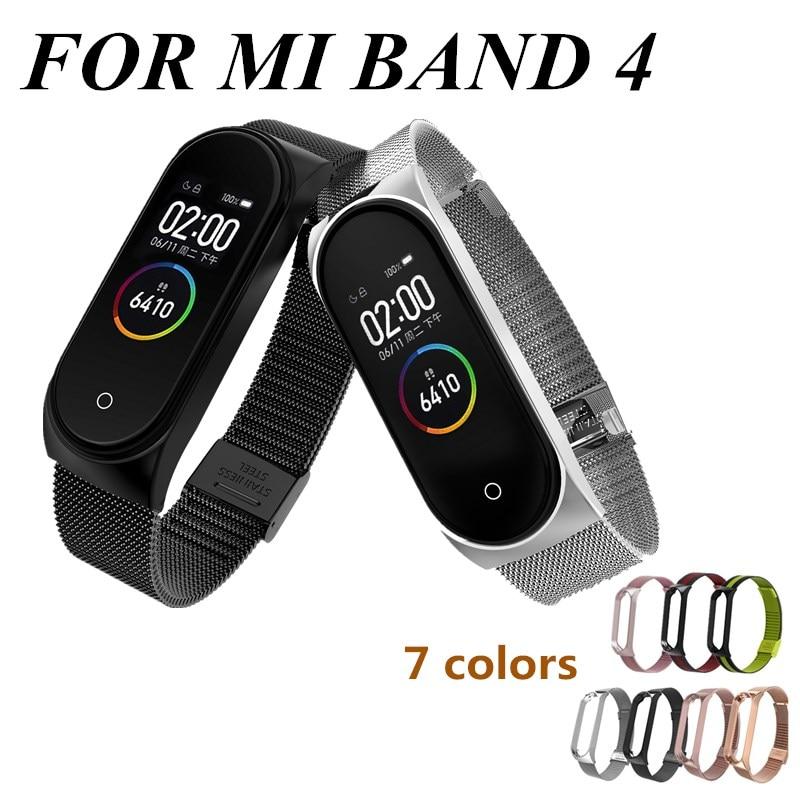 Mi band 4 Bracelet en métal pour Xiaomi Mi Band 4 Bracelet sans vis Xiaomi Mi Band 4 Bracelet Correa Xiomi MiBand 4 Bracelet en acier