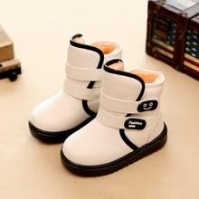 Fall new Plush Girls Shoes Boys Boots Baby Kids Snow Boots Anti-Skid Wear Children Martin Boots Fashion Girls Botts KS185
