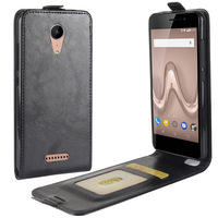 Luxury Vertical PU Leather Flip Wallet Case Cover For Wiko Tommy 2 Up Down Cell Phone