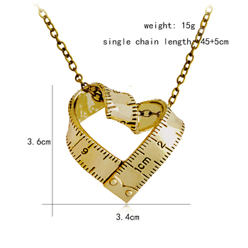 Heart Ruler Necklace Love Measuring Rule7