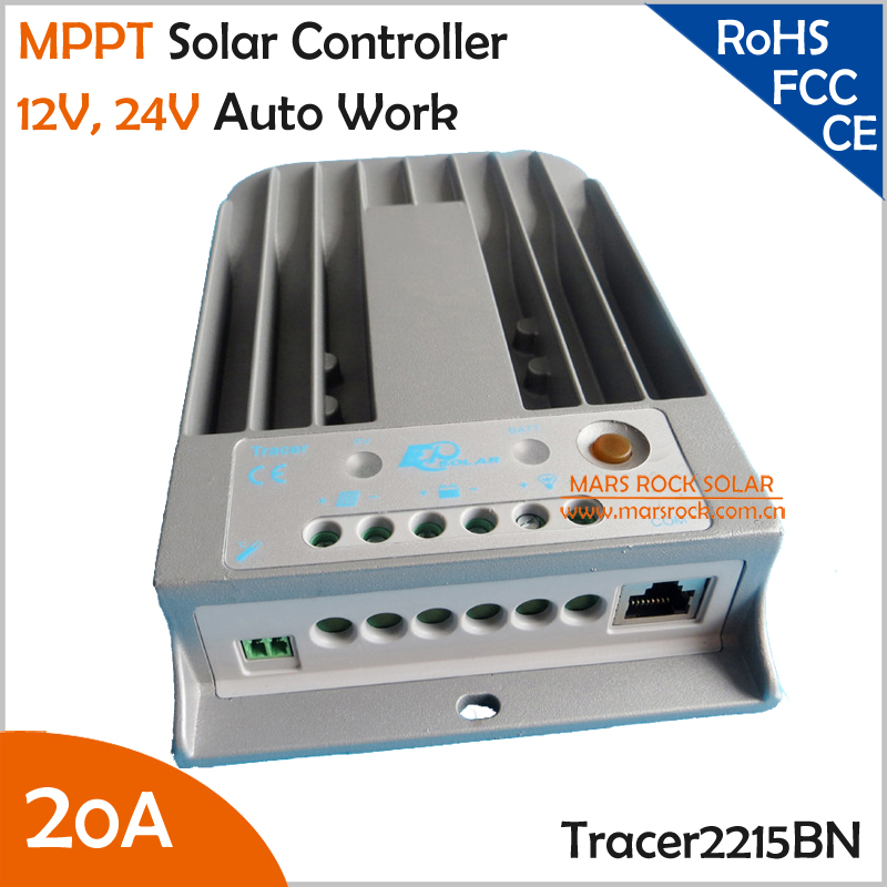 Tracer2215BN 20A 12V 24V Auto Work MPPT Solar Charge Controller with Die-cast Aluminum Design утюг mystery mei 2215 темно синий белый mei 2215