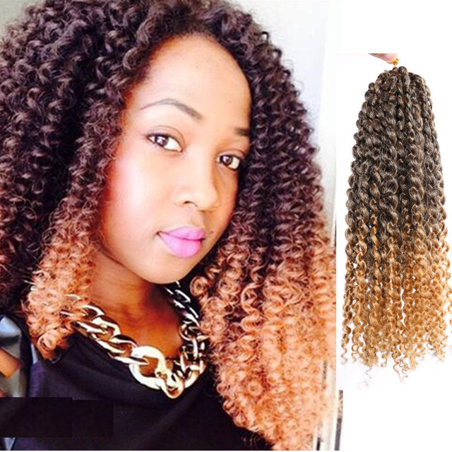 12inch new kinky curly braiding synthetic hair ombre blonde 12inch new kinky curly braiding synthetic hair ombre blonde malibobo loop crochet braid hair extensions afro pmusecretfo Choice Image