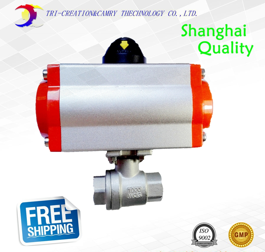 1/2 DN15 female stainless steel ball valve,2 way 316 screwed/pneumatic thread ball valve_double acting AT ball valve цена