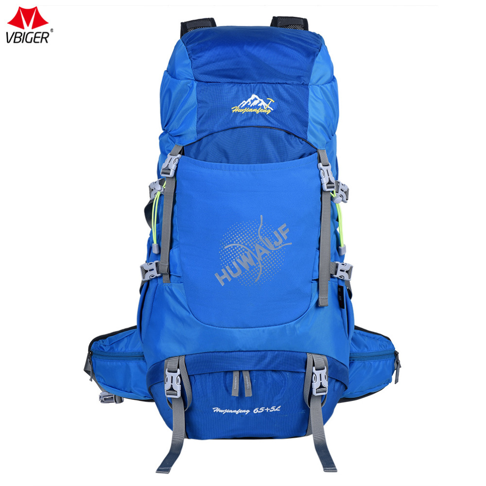 цена Vbiger 65L Male Backpack Large-capacity Shoulders Bag Casual Trekking Backpacks Waterproof Daypack Drawstring Pocket Hot Sale