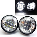 """2Pcs 4.5 INCH Motorcycle Headlights Led Fog Lamp 4-1/2"""" Chrome Auxiliary Fog Passing Light for Harley Touring Road King Electra"""