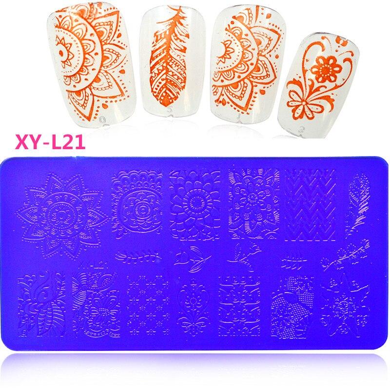 Aliexpress 1pcs New Rctangular Designs Nail Plastic Sting St Diy Image Printing Plates Art Polish Templates Tools Xy L01 32 From