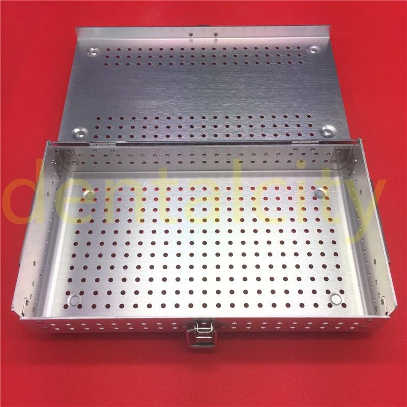 New Aluminium Alloy Sterilization Tray Sterilization Case Surgical Instruments new aluminium sterilization tray with silicone mat dental surgical instruments